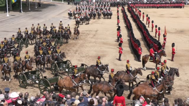 atmosphere on june 08 2019 in london england - trooping the colour stock videos & royalty-free footage
