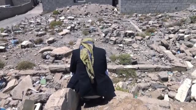 on march 26, 2015 a saudi led coalition launches airstrikes against rebels allied with its arch-rival iran who had seized the capital sanaa in... - yemen stock videos & royalty-free footage