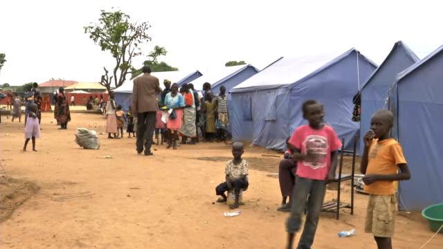 camp on march 28 2014 in juba sudan - 南スーダン点の映像素材/bロール