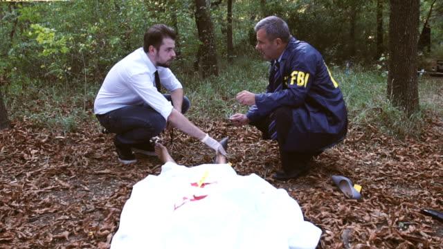 FBI on murder scene