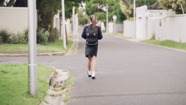 on my way to school - uniform stock videos & royalty-free footage