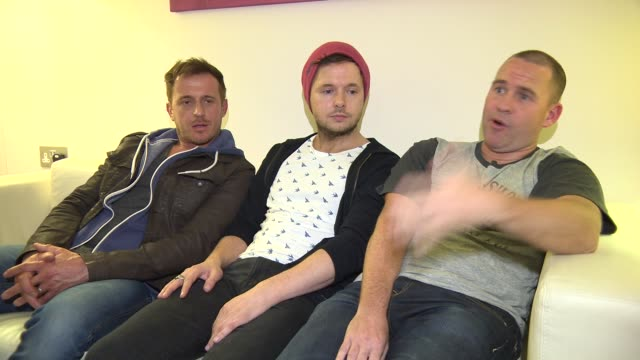 interview 911 on new fans at 911 boy band interview at madame tussauds on march 04 2015 in london england - boy band stock videos & royalty-free footage