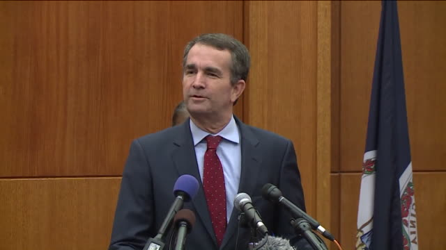 on nov. 8 the day after his decisive election night victory, governor-elect ralph northam laid out some what he said will become his administration's... - governor stock videos & royalty-free footage