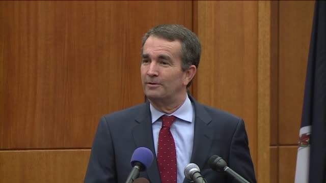 wtvr on nov 8 the day after his decisive election night victory governorelect ralph northam laid out some what he said will become his... - 長点の映像素材/bロール