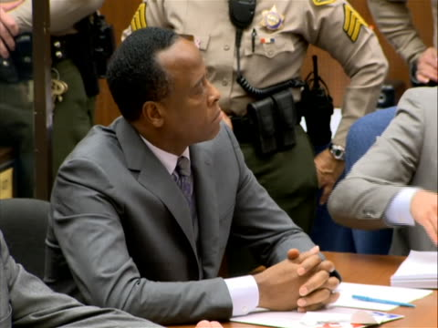 on november 29, 2011 doctor conrad murray was sentenced to four years in prison for the death of michael jackson. on november 7, 2011 a jury reached... - crime or recreational drug or prison or legal trial stock-videos und b-roll-filmmaterial