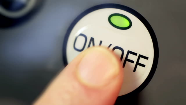 on off button - start button stock videos & royalty-free footage