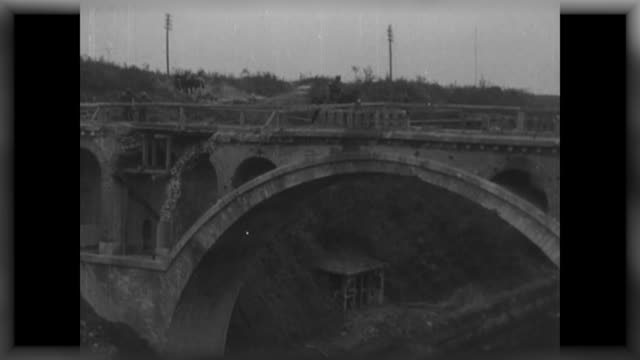 on saturday it is 100 years since the capture of riqueval bridge on 29th september 1918, an extraordinary and morale boosting wwi military action... - ww1 battle stock videos & royalty-free footage