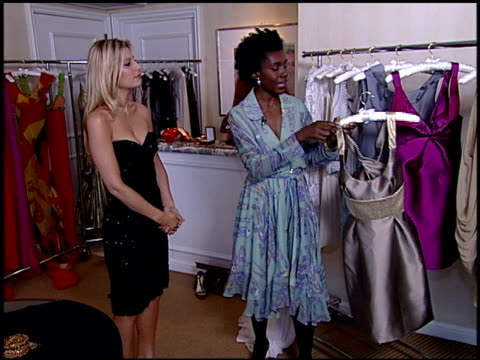 on short dress trends at the ebay style suite at the four seasons hotel in beverly hills, california on february 21, 2007. - four seasons hotel stock videos & royalty-free footage