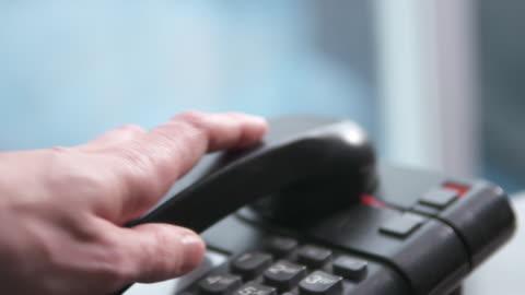 vídeos y material grabado en eventos de stock de dolly in on telephone - teléfono con cable