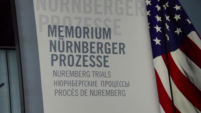 on the 20 november 1945 the nuremberg trials opened which saw nazi war criminals tried for the first time under international law - processi di norimberga video stock e b–roll