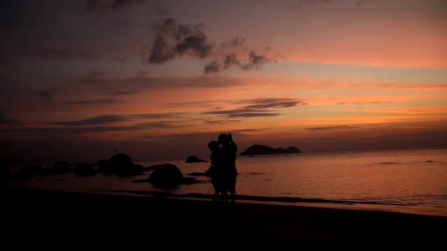 on the beach (hd) - slow dancing stock videos and b-roll footage