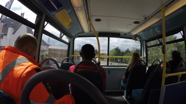 On the bus in London