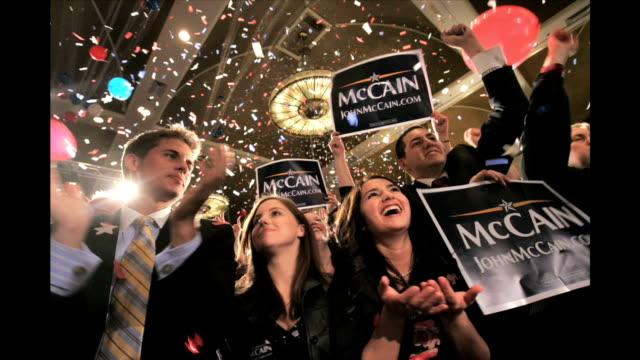 ohio and texas primaries march 4 2008 - amerikanska republikanska partiet bildbanksvideor och videomaterial från bakom kulisserna