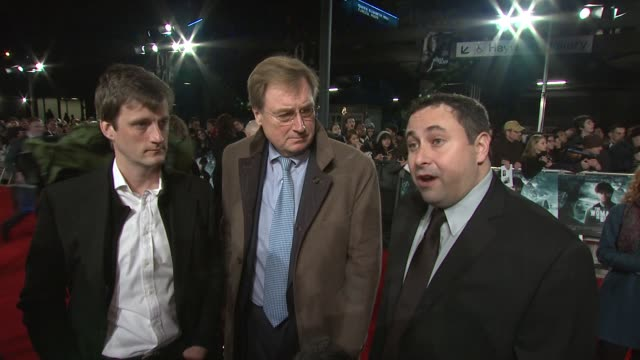 on the importance of the story, the team involved, working with daniel radcliffe, the horror aspect at the woman in black world premiere at the royal... - royal festival hall stock videos & royalty-free footage