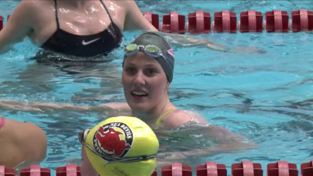 on the occasion of the world swimming championships in barcelona july 28 august 4 file images of american swimmer missy franklin who is considered as... - championships stock videos & royalty-free footage