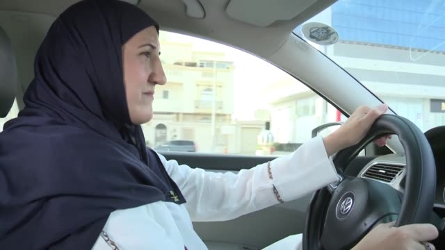 stockvideo's en b-roll-footage met on the one year anniversary of allowing women to drive in saudi arabia ammal and nada decided to establish the first female car club in the country - jiddah