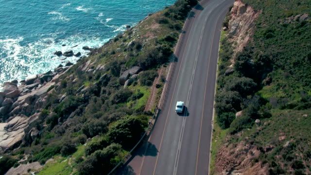 on the open road, ready for a road trip - drone point of view stock videos & royalty-free footage