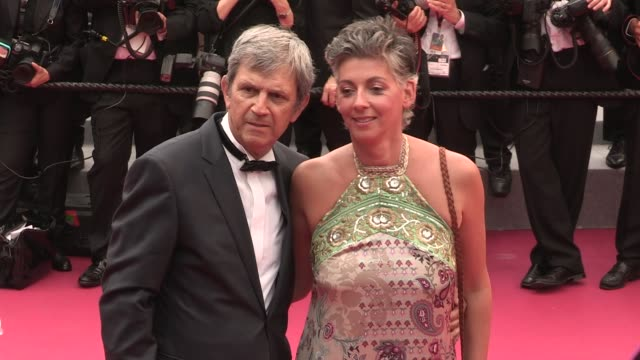 on the red carpet for the premiere of plaire aimer et courir vite at the cannes film festival 2018 thursday 10 may 2018 cannes france - 71st international cannes film festival stock videos & royalty-free footage