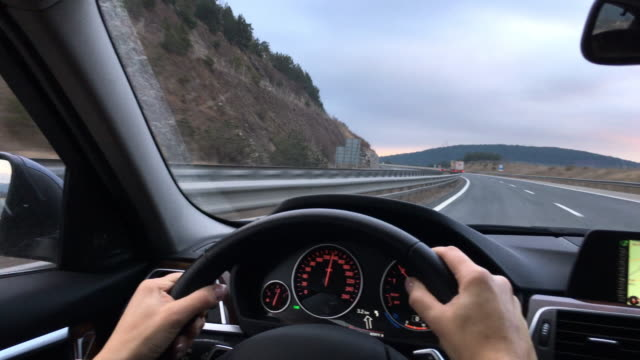 on the road - drivers point of view - drivers point of view stock videos and b-roll footage