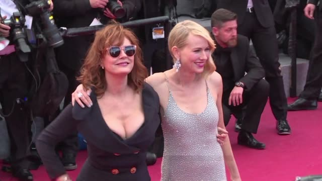 On the second day of the Cannes film festival stars continued to grace the red carpet leading to the Palais des Festivals including Susan Sarandon...