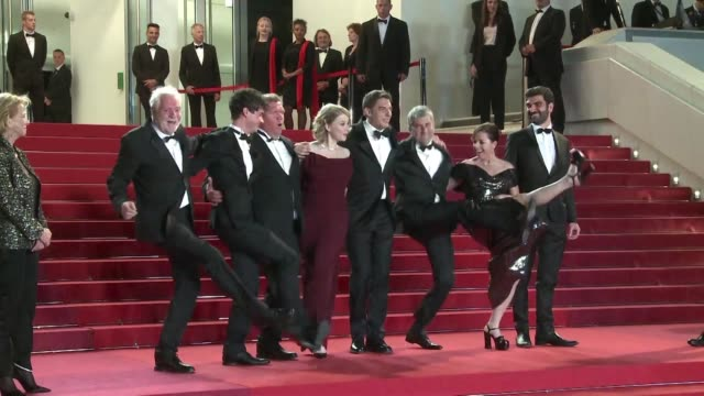 On the second day of the Cannes film festival the cast and crew of the French film Rester vertical Staying Vertical from Alain Guiraudie danced the...