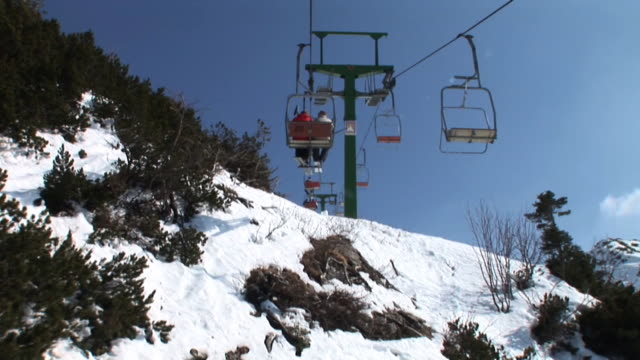 hd: on the ski lift - ski lift stock videos & royalty-free footage