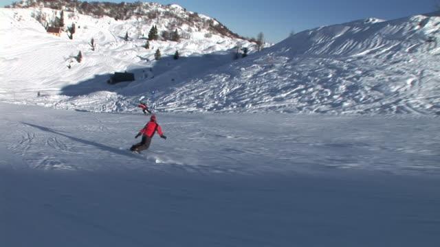 hd: on the ski slope - slalom skiing stock videos & royalty-free footage