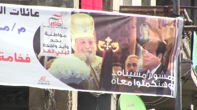 On the streets of Cairo's Shubra district many Coptic Christians but not all say they will support President Abdel Fattah alSisi in his re election...