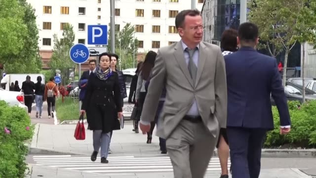 on the streets of nursultan kazakhstani citizens react to the results of the presidential election in which the handpicked successor of kazakhstan's... - nur sultan stock videos and b-roll footage