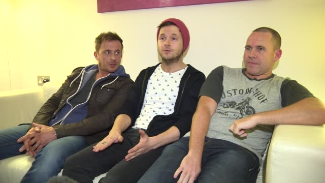 interview 911 on the tour new ideas at 911 boy band interview at madame tussauds on march 04 2015 in london england - boy band stock videos & royalty-free footage