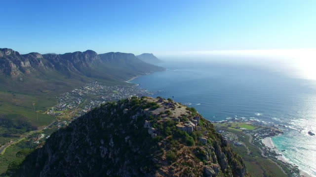 on the way to camps bay - lion's head mountain stock videos and b-roll footage