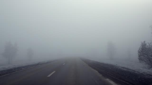 冬の road - かすみ点の映像素材/bロール