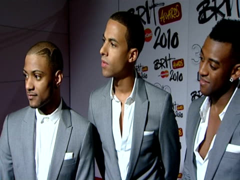 JLS on their 3 nominations on having had a very success and surreal 12 months on what winning would mean to them on being papped with lots of...