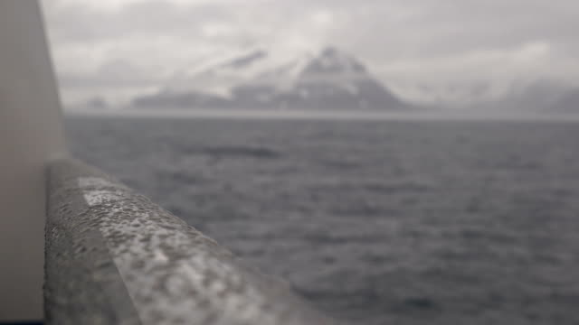 on top of a ship with view at antartica - cruise antarctica stock videos & royalty-free footage