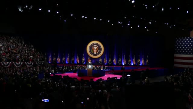 on tuesday january 10 us president barack obama delivered his farewell address to the american people at mccormick place in chicago illinois first... - バラク・オバマ点の映像素材/bロール