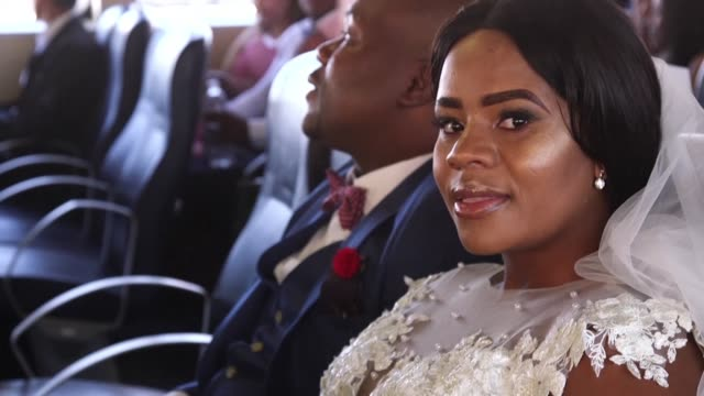on valentine's day couples tie the knot on robben island in south africa to pay tribute to nelson mandela who spent time in prison on the island off... - valentines day stock videos & royalty-free footage