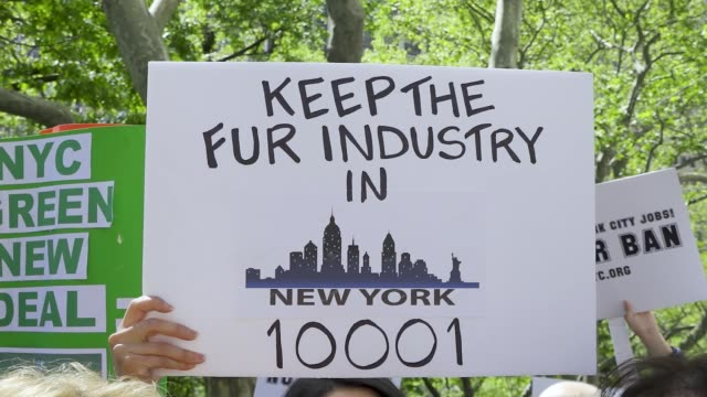 """On Wednesday May 15 2019 New York City Hall held a council hearing proposal that according to the NY Times """"would ban the sale of fur garments and..."""