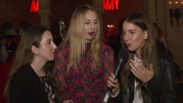 INTERVIEW HAIM on what Amy Winehouse represents her unique sound and seeing her live at The US Premiere Of AMY Presented By Chairman CEO Of Universal...