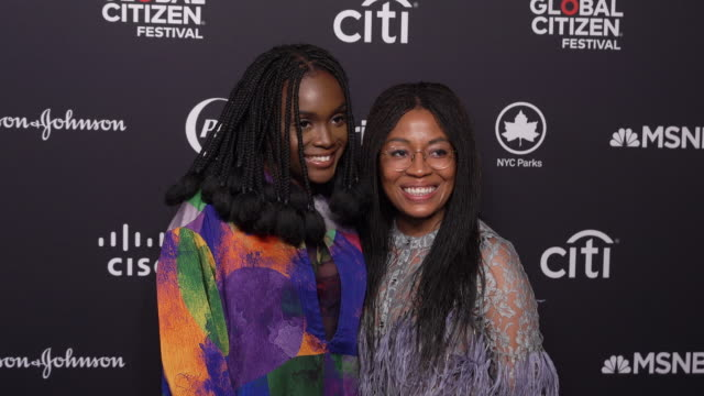 interview falana on what being a global citizen means to her at 2019 global citizen festival at central park great lawn on september 28 2019 in new... - great lawn stock videos and b-roll footage