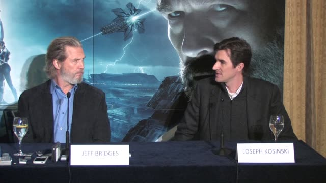 on where they think the film could go beyond this and how technology would drive that advance at the Tron Legacy Press Conference INTERVIEW Jeff...
