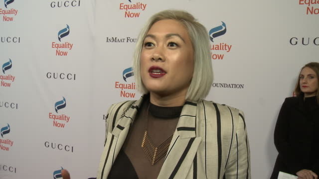 interview milck on why she wanted to support equality now at equality now's make equality reality gala 2018 in los angeles ca - equality now stock videos and b-roll footage