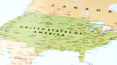 nordamerika usa på världskartan - kartografi bildbanksvideor och videomaterial från bakom kulisserna