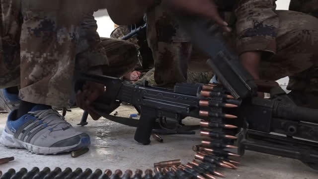 once the capital of islamic state's self declared caliphate -- the syrian city of raqqa is now almost fully in the control of coalition forces. sky... - クルド人点の映像素材/bロール