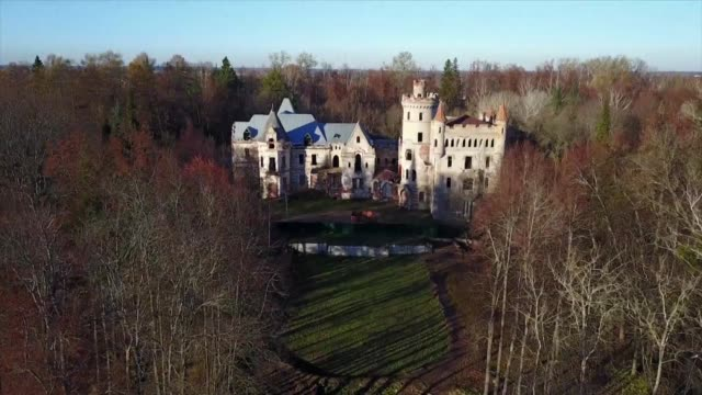 once triumphant symbols of aristocratic life in pre revolutionary russia aristocratic castles and family estates have been abandoned since the... - dissolving stock videos and b-roll footage