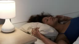 One black woman suffering insomnia