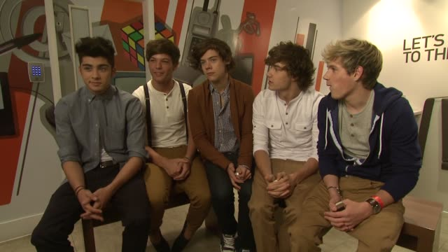 one direction on wanting to play 'x factor' in the future at the one direction nokia launch at london england. - the x factor stock videos & royalty-free footage