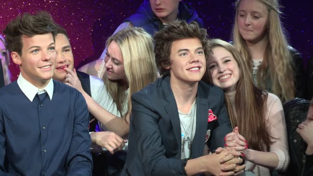 One Direction Wax Figures Unveiled at Madame Tussauds on April 18 2013 in London England