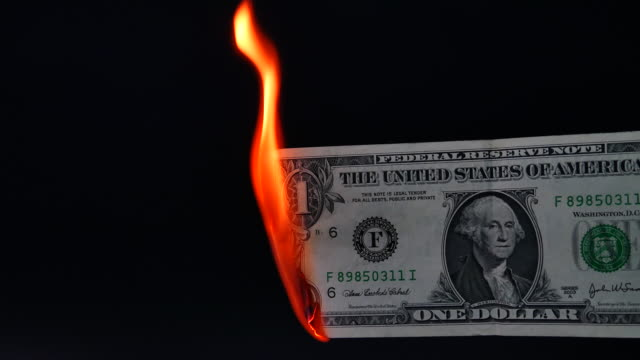 one dollar bill burning - burning stock videos & royalty-free footage