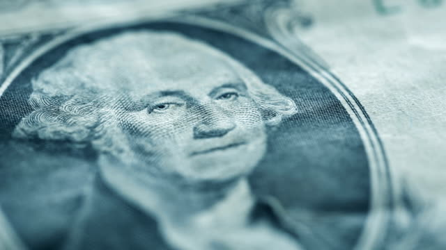 u.s. one dollar bill close-up details - us paper currency stock videos & royalty-free footage