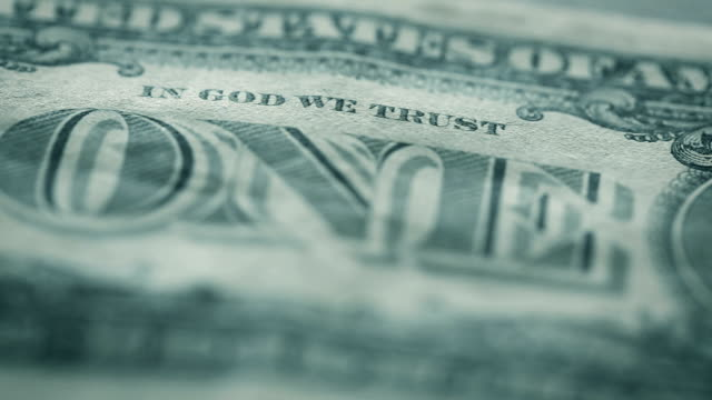 u.s. one dollar bill close-up details - american one dollar bill stock videos & royalty-free footage
